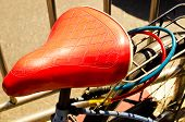 picture of ironic  - Close up of  beautiful vintage bicycle seat  - JPG