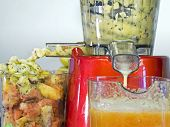 picture of oxidation  - extractor juice low rpm in working produces fresh juice without oxidation fruit around