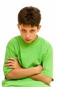 foto of stubborn  - A portrait of a stubborn boy - JPG