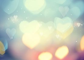 stock photo of valentine card  - Holiday abstract glowing blurred background - JPG