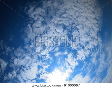 Only The Sky With Bright Clouds