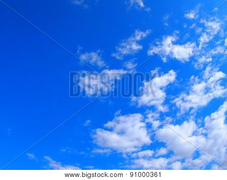 Only The Blue Sky With White Clouds