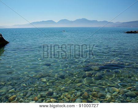 Greece, Crete - A View Of The Gulf Of Mirabello