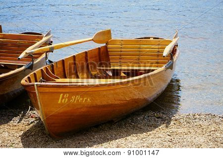Rowboat On The Banks Of Lake Titisee