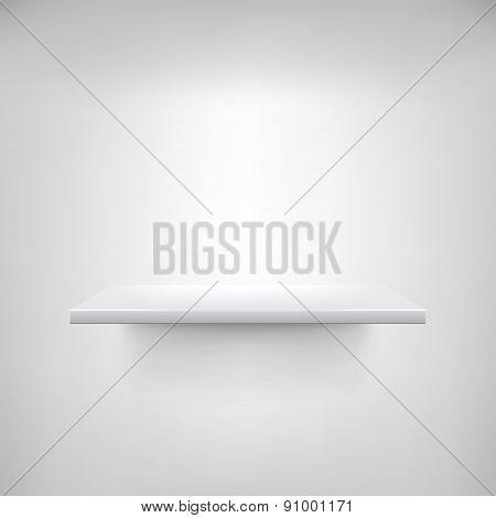 Empty White Shelf