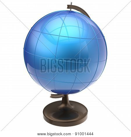 Globe Blank Blue Earth Planet World Icon Classic