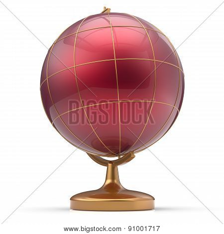 Globe Blank Red Planet Mars Research Icon From Future