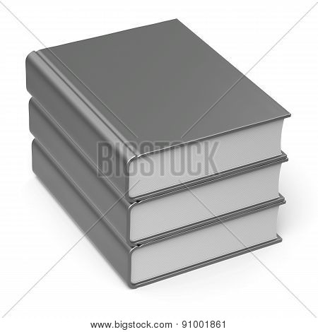 Books Stack Blank White Cover 3 Three Classic Icon Basic