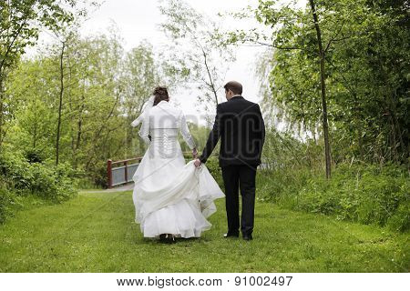 Bridal Couple From Behind