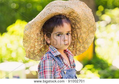 Boy In Green Garden