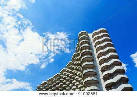 Modern Building  With Sky Cloud
