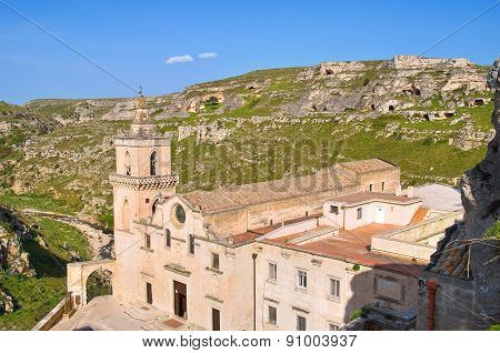 Church of St. Pietro Caveoso. Matera. Basilicata. Italy.