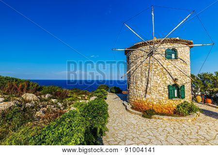 Zakynthos, Greece -  windmill