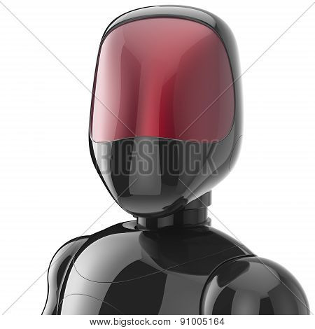 Cyborg Black Robot Bot Android Futuristic Character Avatar