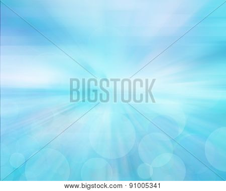 Blue  Elegant Abstract Background With Bokeh