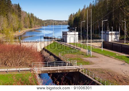 Tsvetochnoye Lock On The Saimaa Canal