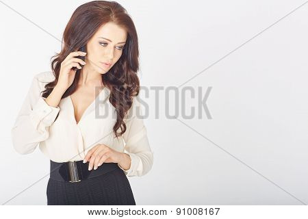 Businesswoman with cellphone