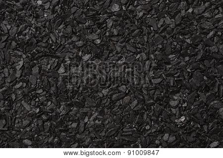 Close up of roll asphalt roofing material