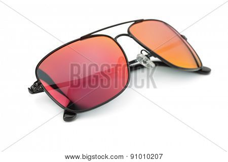 Polarized sunglasses isolated on white