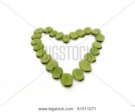 Heart from broad beans