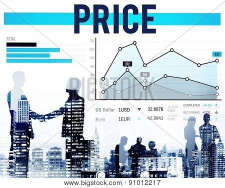 Price Amount Cost Commerce Sale Retail Concept