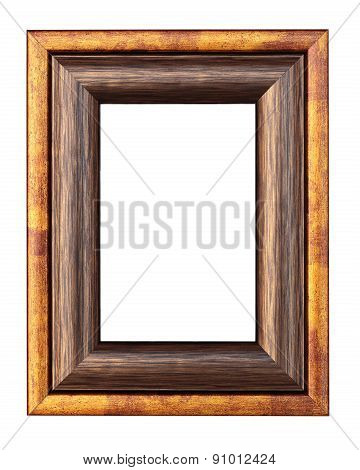 Vintage Classic Frame For Photos. Isolated