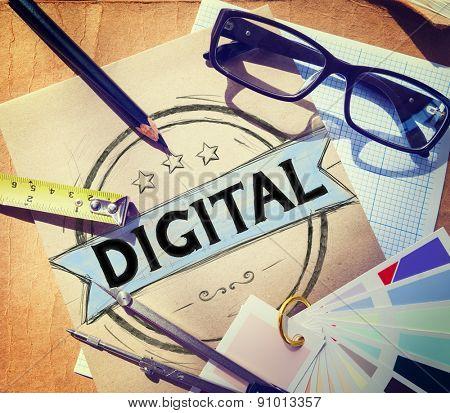 Digital Technology Creative Media Internet Concept