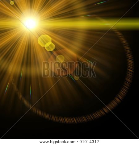 An image of a decorative lens flare background