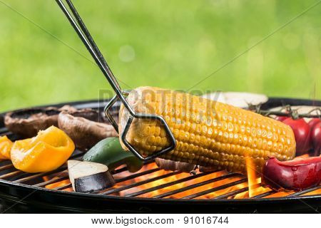 Delicious vegetable on grill