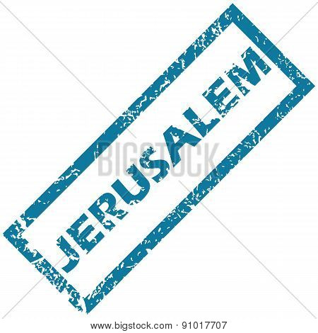 Jerusalem rubber stamp