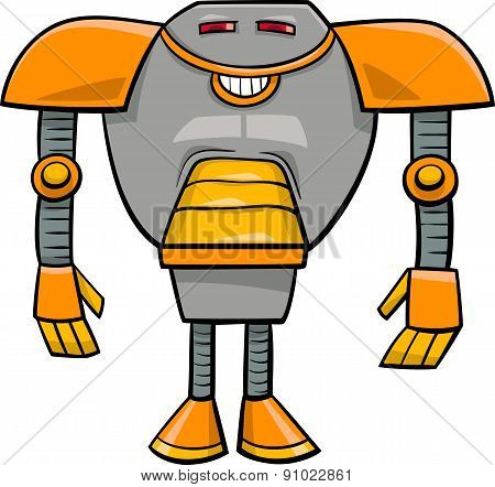Robot Character Cartoon Illustration