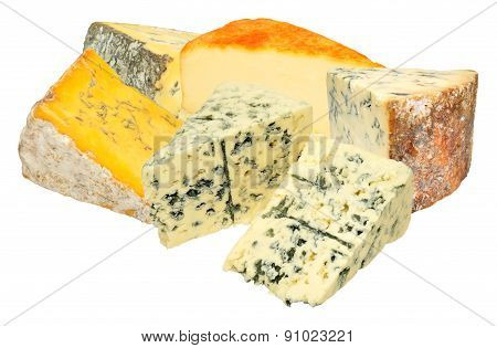 Group Of Cheeses
