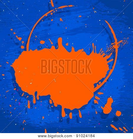 Blue And Orange Neon Background