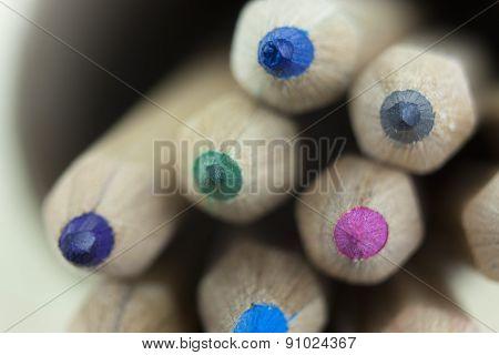 Close Up Of Coloured Pencils