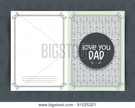Beautiful greeting card design with stylish text