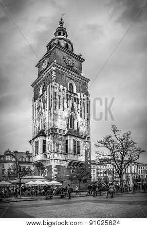 Old Town Hall In Cracow, Poland
