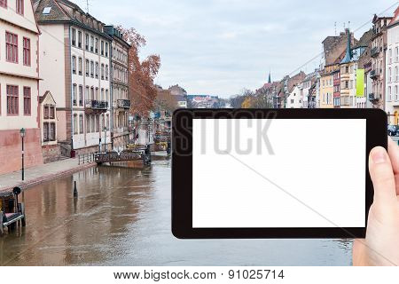 Tourist Photographs Of Old Strasbourg Town