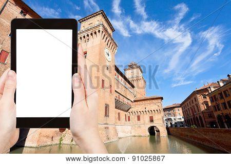 Tourist Photographs Of Castello In Ferrara, Italy