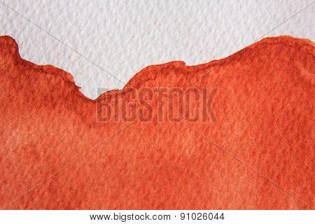 Burnt Orange Watercolor 6