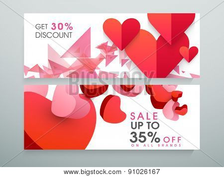 Sale and discount banner or website header with 30% and 35% discount offer.