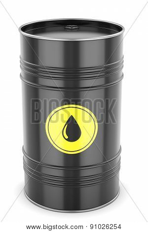 Oil Barrel Isolated