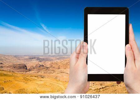 Photo Of Mountain Panorama Of Jordan Near Petra