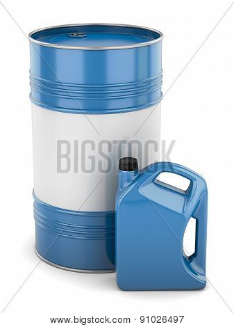 Motor Oil Barrel And Canister