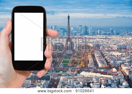 Tourist Photograph View Of Paris With Eiffel Tower