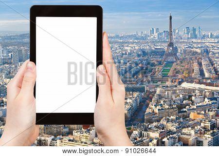Tourist Photos Paris Cityscape With Eiffel Tower