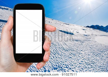 Photo Of Blue Cold Snow On Alps Mountain