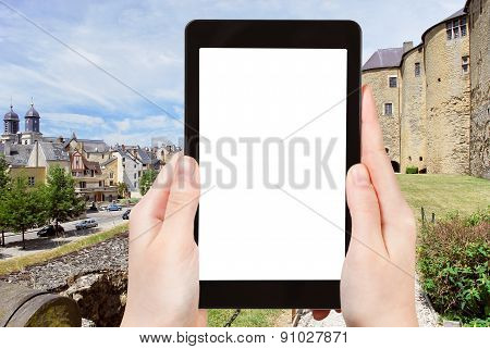 Tourist Photographs Of Town Sedan, France
