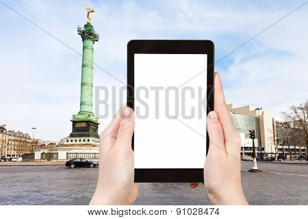 Tourist Photographs Of Place De La Bastille Paris