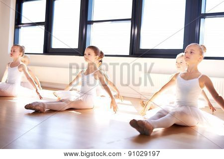 Little Ballerinas In Class