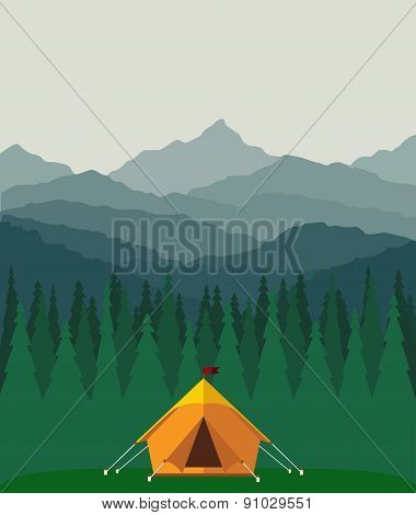 camp in forest